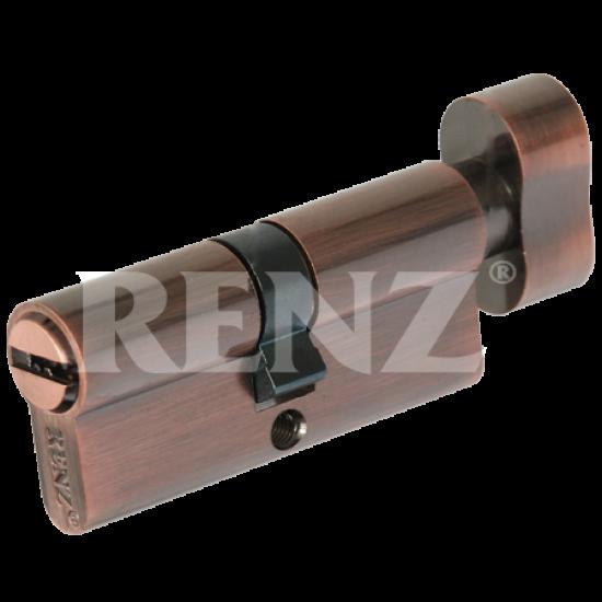 Цилиндровый механизм RENZ 70 мм. CC 70-H. AC медь античная