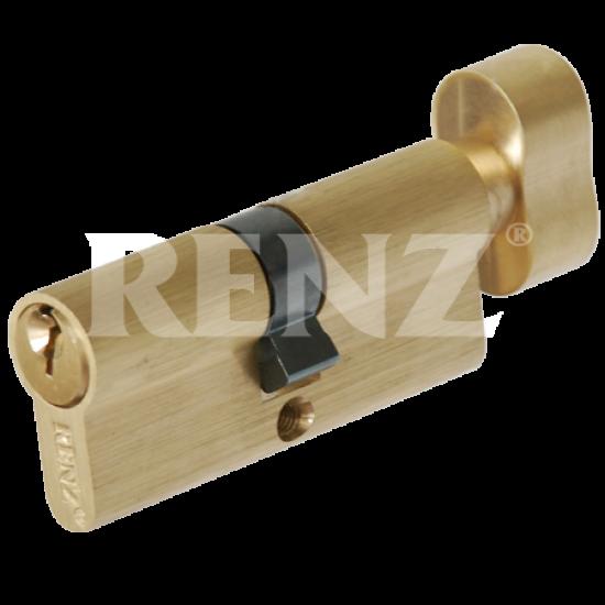 Цилиндровый механизм RENZ 70 мм. CS 70-H. PB латунь блестящая