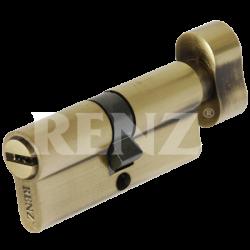 Цилиндровый механизм RENZ 70 мм. CC 70-H. AB бронза античная