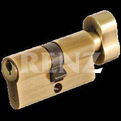 Цилиндровый механизм RENZ 60 мм. CS 60-H. PB латунь блестящая