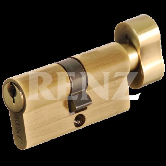 Цилиндровый механизм RENZ 60 мм. CS 60-H. SB латунь матовая