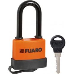 """Замок навесной FUARO PL-3650 LS (50 мм) 3 """"англ.""""кл. (удлиненная дужка) БЛИСТЕР"""