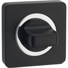 Завертка к ручкам квадратная Renz bk 02.b/cp чёрный/хром