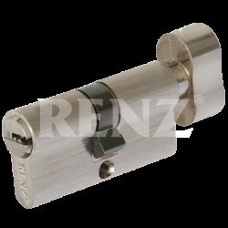 Цилиндровый механизм RENZ 60 мм. CC 60-H. SN никель матовый
