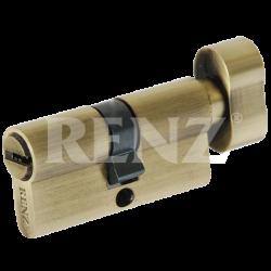 Цилиндровый механизм RENZ 60 мм. CC 60-H. PB латунь блестящая