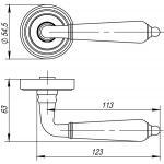 Ручка раздельная Punto (Пунто) LIBRETTO ML SN/CP-3 матовый никель/хром