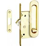 Ручка для раздвижных дверей TIXX SDH-BK 501 GP (лат. бл.) с механизмом под фиксатор