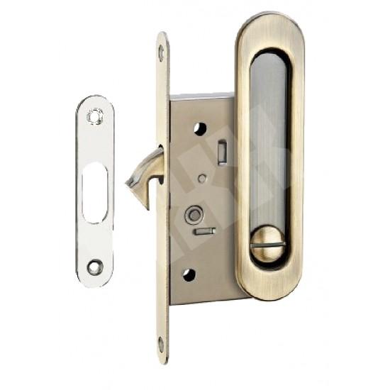 Ручка для раздвижных дверей TIXX SDH-BK 501 AB (бронза) с механизмом под фиксатор