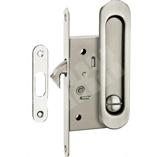 Ручка для раздвижных дверей TIXX SDH-BK 501 SN (матовый никель) с механизмом под фиксатор