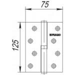 Петля съемная FUARO 413-5 125x75x2,5 PN никель правая