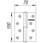 Петля съемная FUARO 413-4 100x75x2,5 CP хром левая