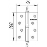 Петля съемная FUARO 410-4 100x75x2,5 AC медь правая