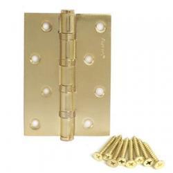 Петля универсальная Avers 100*70*2,5-B4-GM Матовое золото
