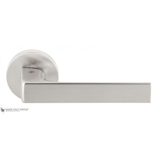 Дверная ручка на круглом основании COLOMBO Robocinque ID61RSB-CM матовый хром