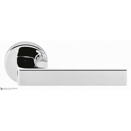 Дверная ручка на круглом основании COLOMBO Robocinque ID61RSB-CR полированный хром