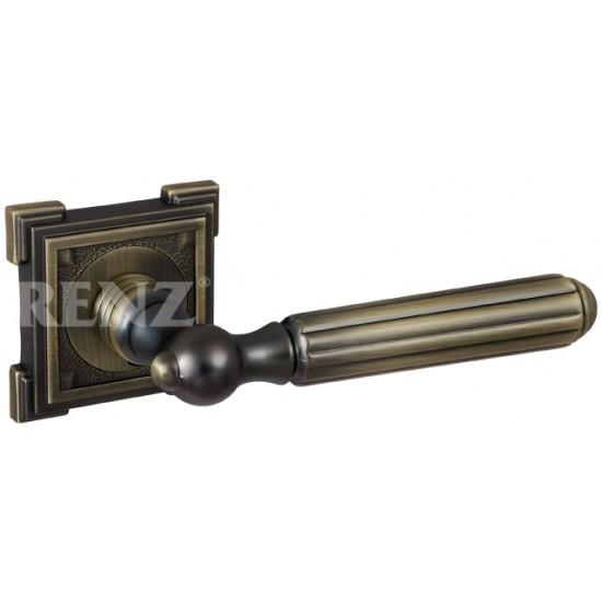 Ручка дверная RENZ «СТЕЛЛА»  DH 68-19. MAB бронза античная матовая
