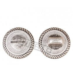Завертка к ручкам PUERTO BK AL 17. серебро античное