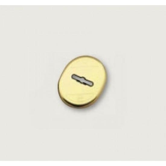 """Накладка на """"сувальду"""" MOTTURA (1 шт) 95.323 CS (МАТОВЫЙ ХРОМ) овальная форма"""