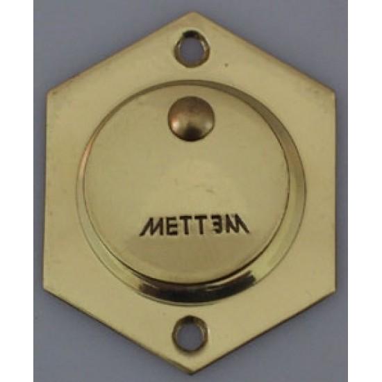 Накладка латунная под сувальдный ключ МЕТТЭМ (комплект)