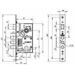 Корпус врезного замка c защелкой V10/C-60.85.3R14 Хром