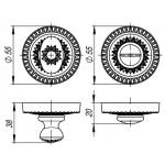 Ручка поворотная ARMADILLO WC-BOLT BK6/CL-AS-9 Античное серебро