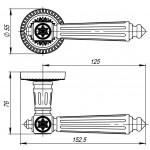 Ручка раздельная ARMADILLO Matador CL4-SILVER-925 Серебро 925