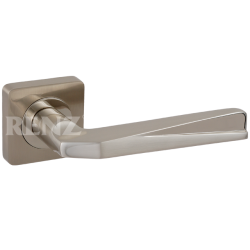 Ручка дверная RENZ «ВАЛЕРИО» DH 54-02. SN/NP никель матовый/никель блестящий
