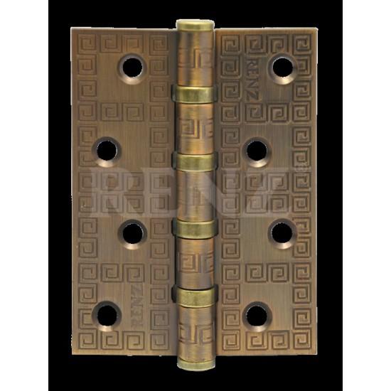 Петля декор, стальная 100мм, универсальная, без колпачка RENZ DECOR MR 100-4BB FH CF кофе