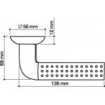 Ручка раздельная ARMADILLO Libra LD27-1SN/CP-3 матовый никель/хром