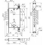 Блок-замок МЕТТЭМ ЗВ13 173.1.1 УНИВЕР /(ЗВСП-2Т-МЦ-ЗЩ ) без ручек
