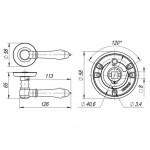 Ручка раздельная FUARO IMPERIA SM AB-7 матовая бронза