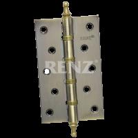 Петля стальная 125мм., универсальная, с колпачком 125-4BB CH. PB латунь блестящая