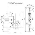Корпус замка врезного цилиндрового KALE KILIT 257 w/b (никель) ТЕХ. КОМПЛЕКТАЦИЯ