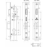 Корпус узкопрофильного замка с защелкой FUARO 4924-35/92 CP (хром) межосев. расст. 92 мм