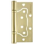 Петля универсальная без врезки FUARO 500-2BB 100x2,5 SB (мат. золото)