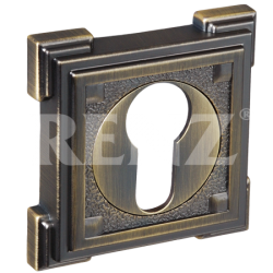 Накладка на цилиндр декоративная RENZ ET 19. AB бронза античная