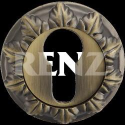 Накладка на цилиндр декоративная RENZ ET 10. MAB бронза античная матовая
