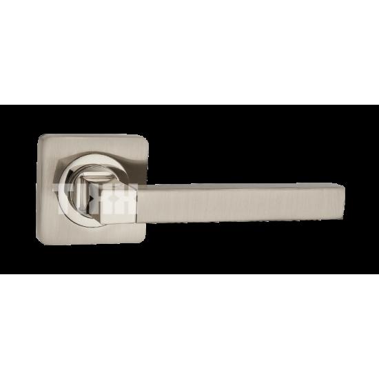 Ручка дверная TIXX «КАТТЛЕЯ» DH 221-05. SN/NP никель матовый/никель блестящий