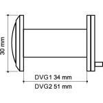 Глазок дверной ARMADILLO DVG2, 16/55х85 SN Мат. никель