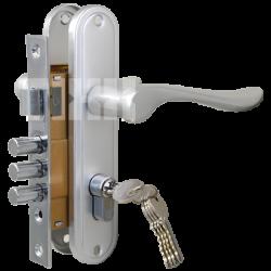 Комплект дверной TIXX LH 7036-127. SB латунь матовая
