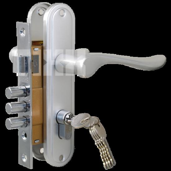 Комплект дверной TIXX LH 7036-127. AB бронза античная