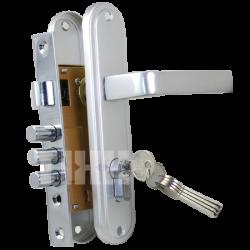 Комплект дверной TIXX LH 7036-126. SB латунь матовая