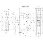 Защелка врезная KALE KILIT 251 WC (44 mm) (латунь)