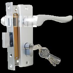 Комплект дверной TIXX LH 7037-125. SC хром матовый