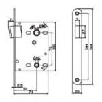 Защелка сантехническая магнитная PALOMA Magn 2070. AB бронза античная