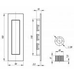 Ручка для раздвижных дверей ARMADILLO SH010 URB СР-8 Хром