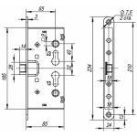 Замок для противопожарных дверей FUARO FL-0433 ANTI-PANIC с квадратом