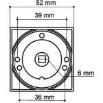 Ручка поворотная ARMADILLO WC-BOLT BK6/SQ-21CP-8 хром