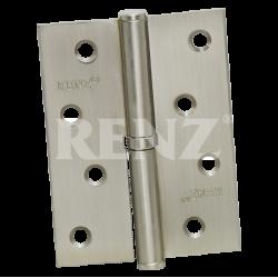 Петля стальная разъемная с колпачком RENZ L 100 CH SN никель матовый левая