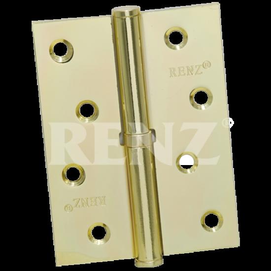 Петля стальная разъемная с колпачком RENZ R 100 CH  SB латунь матовая правая